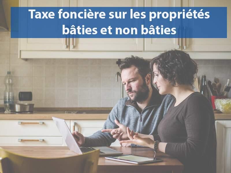 Taxe foncière sur les propriétés bâties et non bâties