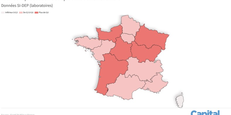 Taux de reproduction Covid-19 : les régions où il est le plus élevé, notre carte de France