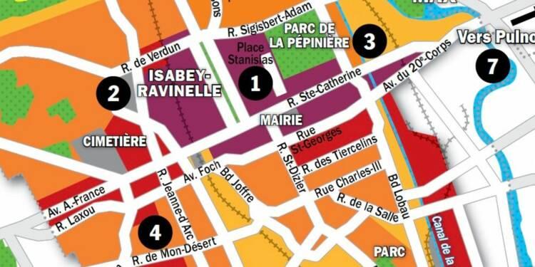 Immobilier à Nancy : la carte des prix 2020