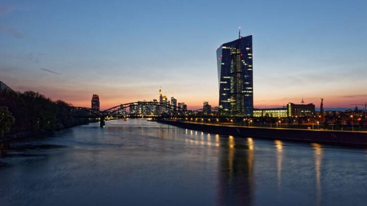 2 militants Greenpeace se posent en parapente sur la BCE