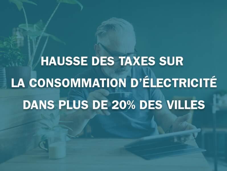 Hausse des taxes sur la consommation d'électricité dans plus de 20% des villes