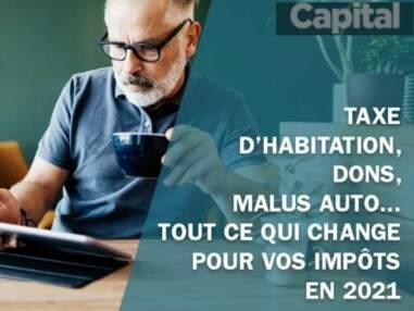 Taxe d'habitation, dons, malus auto... tout ce qui change pour vos impôts en 2021