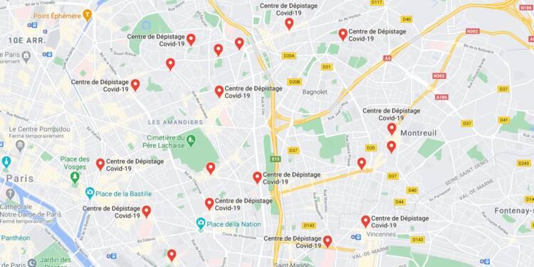 Covid-19 : trouvez où vous faire dépister sur Google Maps