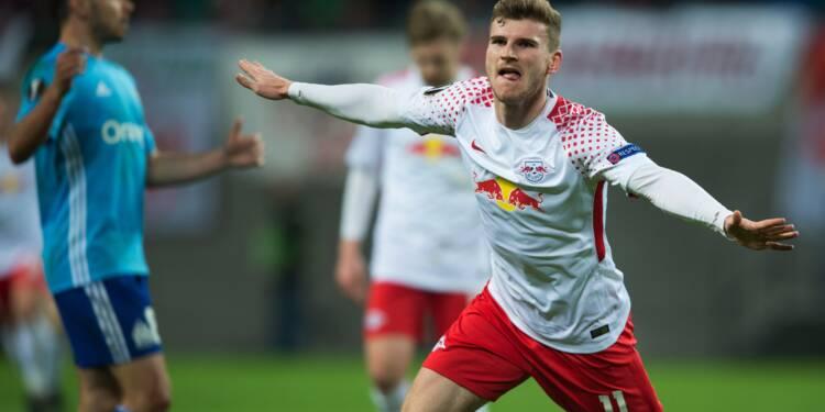 Europa League: l'OM battu 1-0 par le RB Leipzig en quarts aller