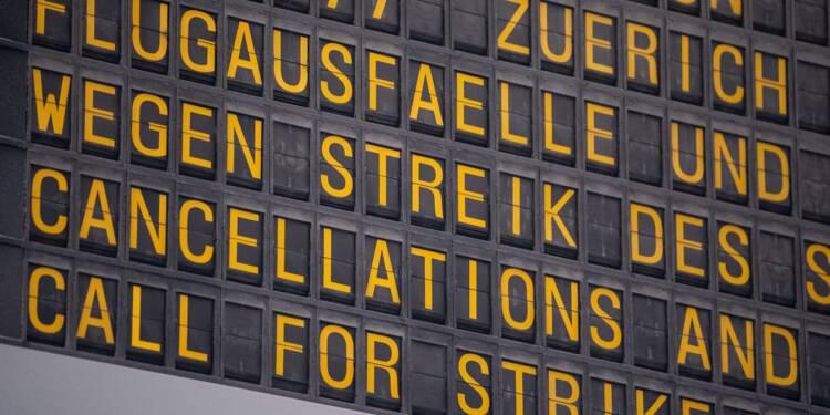 Allemagne: des centaines de vols annulés mardi en raison d'une grève
