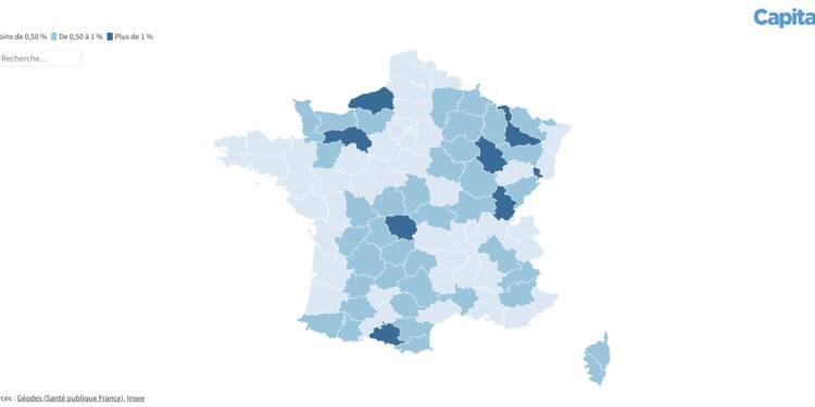 """Le taux de Français """"réellement"""" vaccinés, département par département"""