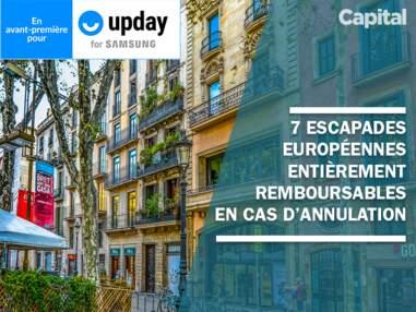 7 escapades européennes entièrement remboursables en cas d'annulation