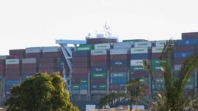 Canal de Suez : l'arrière du navire Ever-Given s'éloigne de la rive