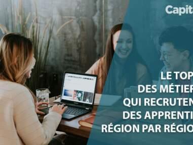 Le top 5 des métiers qui recrutent des apprentis, région par région
