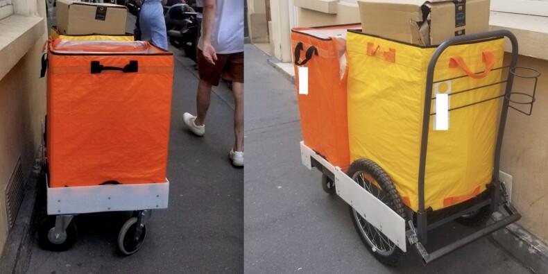 A Paris, Amazon teste la livraison à pied plutôt qu'en camionnette