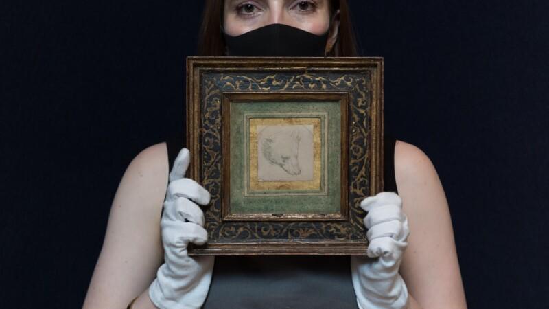 Le petit dessin réalisé par de Vinci se vend une fortune aux enchères