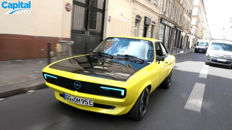 Nous avons roulé en Opel Manta GSe ElektroMOD dans Paris