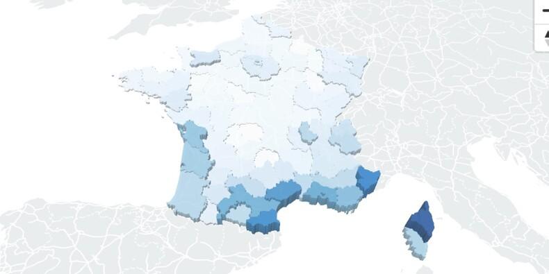 Très forte augmentation du taux d'incidence dans 4 régions, notre carte de France