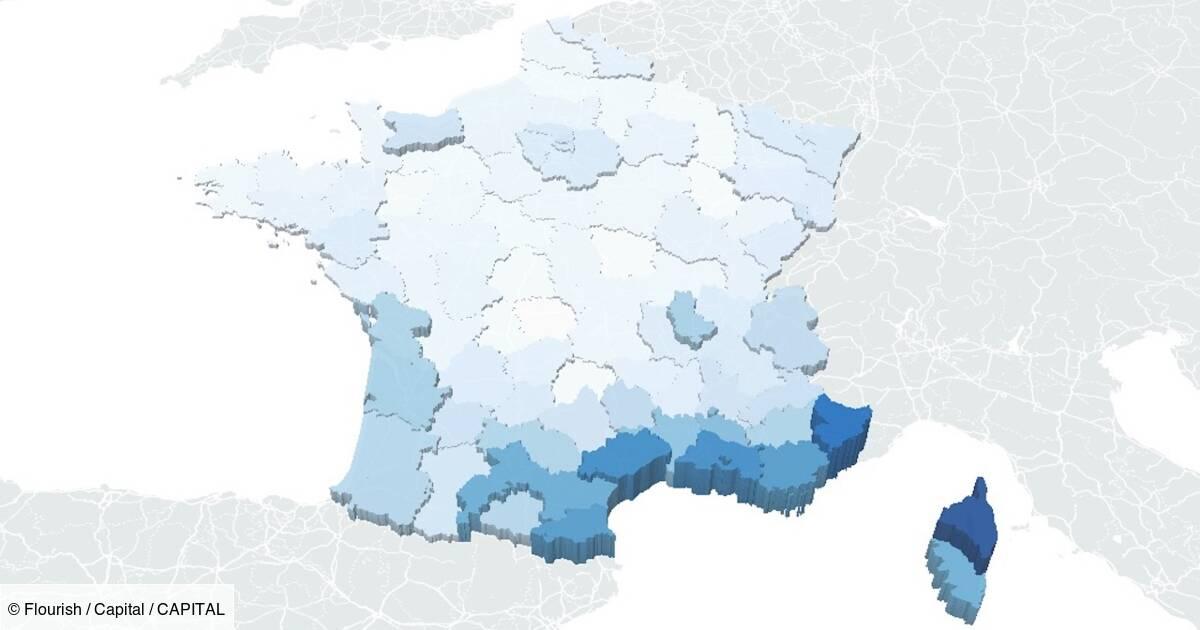 Les départements où l'épidémie repart, et ceux où elle ralentit : notre carte de France