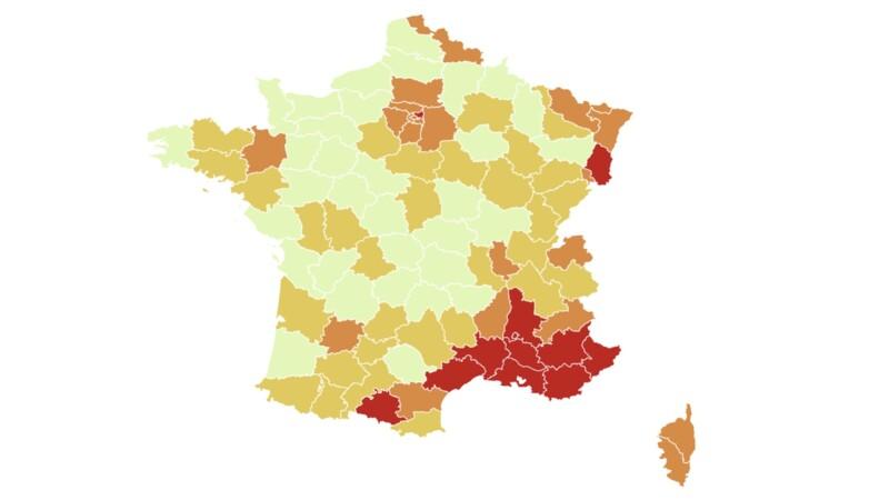 Covid-19 : ces 35 départements où le pass sanitaire pourrait être allégé, notre carte de France