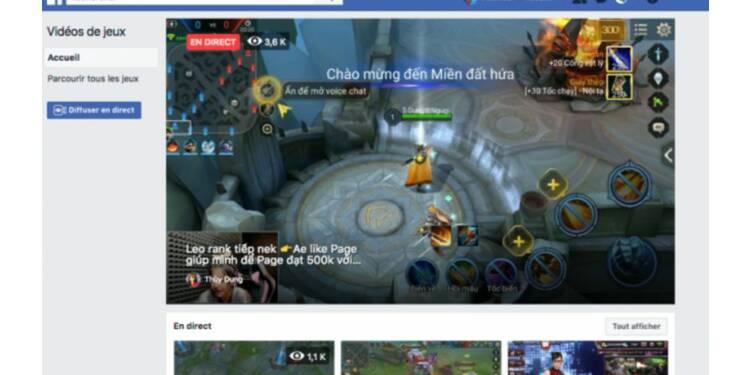 Facebook se lance officiellement dans le streaming de jeux vidéo