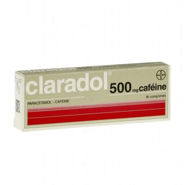 À privilégier : Claradol 500 Mg caféine, 16 comprimés