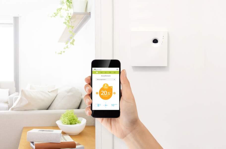 Avec les thermostats Qivivo, vous réglez votre chauffage à distance