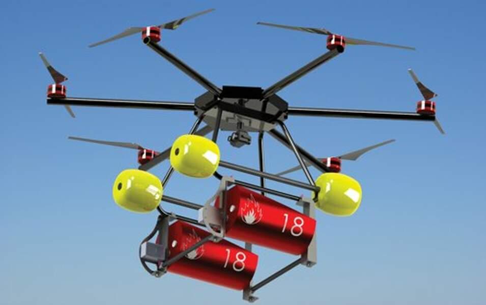 Le drone bombardier d'eau