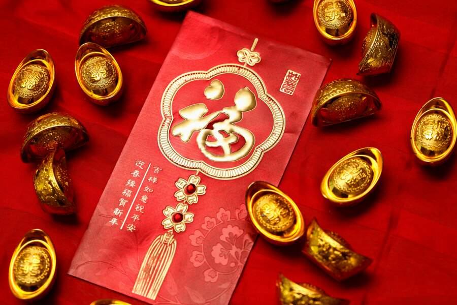 En janvier-février : beaucoup d'or dans les enveloppes rouges échangées lors du Nouvel an chinois