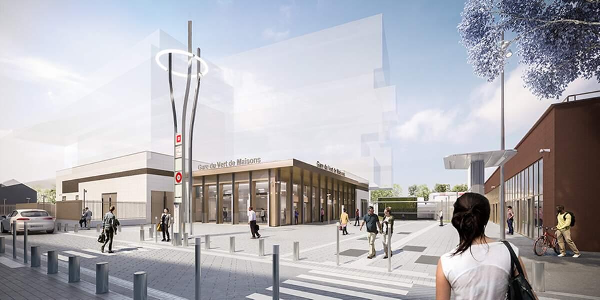 Gare du Vert de Maisons (Maison-Alfort, Alfortville)