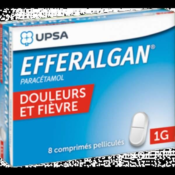 À privilégier : Efferalgan 1g, 8 comprimés pelliculés