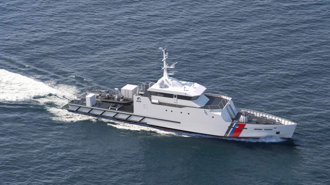 Le patrouilleur de haute mer OPV-45 de Kership