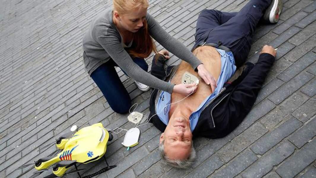 Le drone-défibrillateur de premiers secours