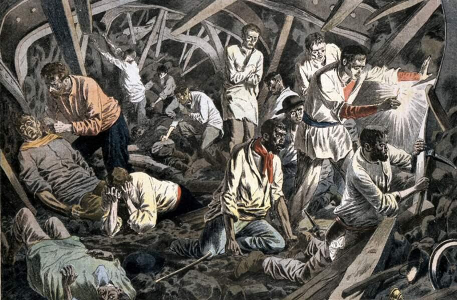 10 MARS 1906 : La mine de Courrières (Pas-de-Calais) dévastée