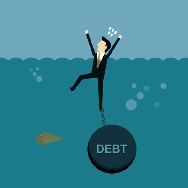 De nombreuses sociétés endettées boivent la tasse