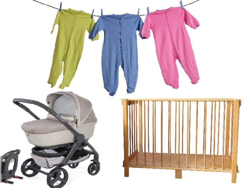 Poussette, lit de bébé, vêtements : achetez d'occasion ou louez !