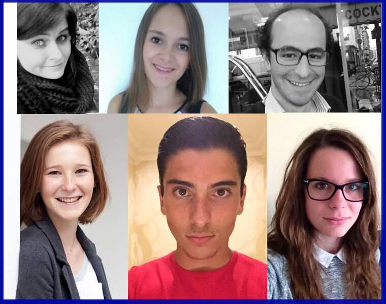 Alice Comble; Hélène Simonet; Adhémar Autrand; Philippine Dolbeau; Anthony Debrant; Annie Ducatez