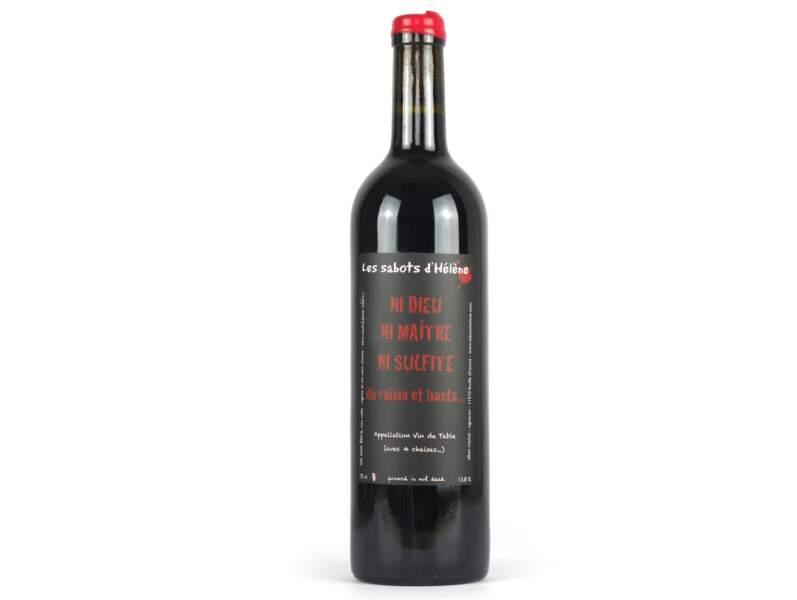 Vin de France, Ni dieu, ni maître, ni sulfite 2016, Les Sabots d'Hélène, Alban Michel