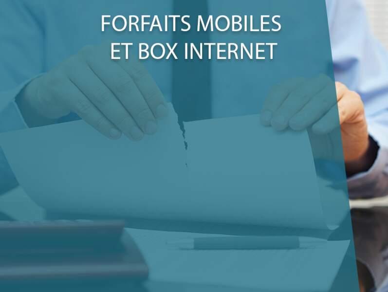 Forfaits mobiles et box internet