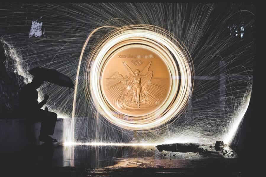 1,34% : la part du métal jaune dans une médaille d'or olympique