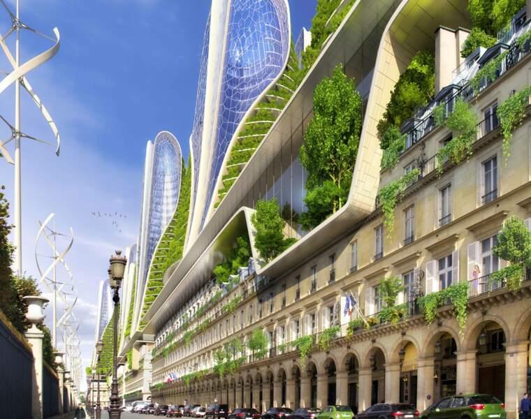 Des tours vertes au centre de Paris