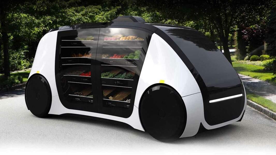 Une épicerie autonome qui vous apporte fruits et légumes