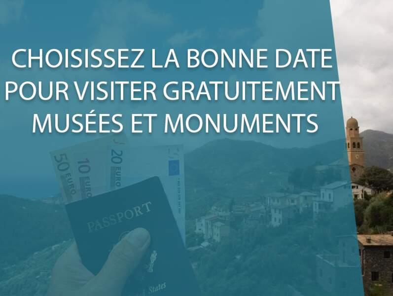 Choisissez la bonne date pour visiter gratuitement musées et monuments