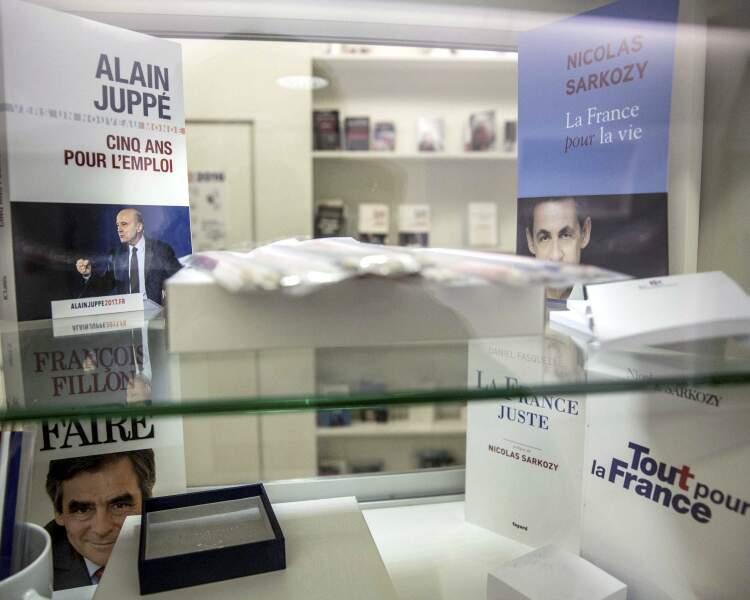 Candidats à la primaire de droite : leurs tops et leurs flops en librairie
