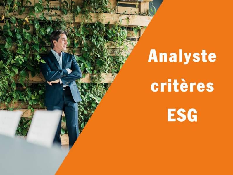 Analyste critères ESG - Il scrute les placements éthiques