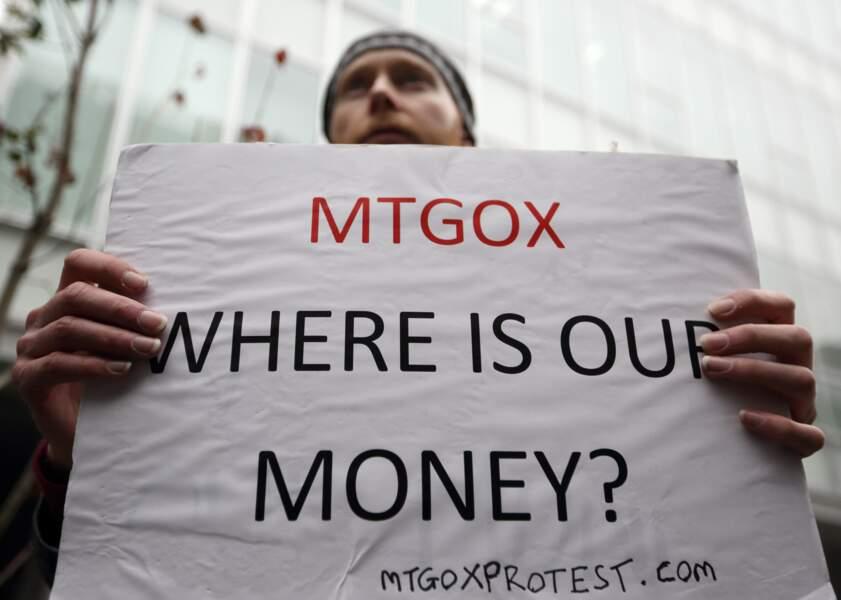 Février 2014 - La plateforme d'échange MtGox fait faillite