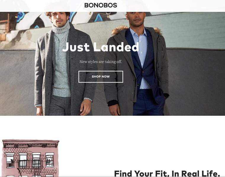 BONOBOS: Magasins d'essayage