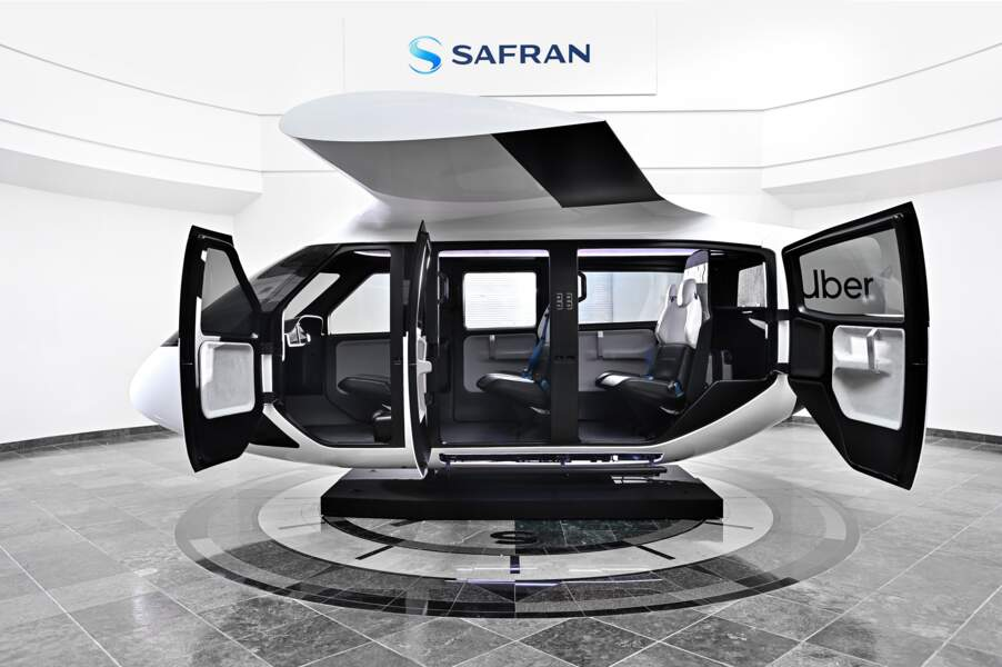 La cabine de Safran et d'Uber