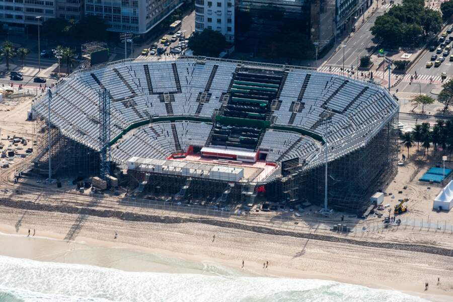 Beach volley et triathlon sur la plage de Copacabana