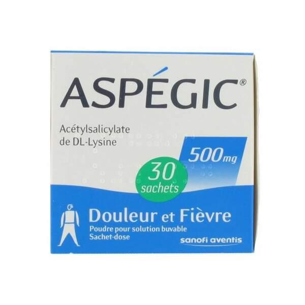 À éviter : Aspégic 500 Mg, 30 sachets pour solution buvable