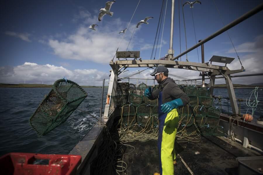 Les pêcheurs qui pêchent dans les eaux britanniques