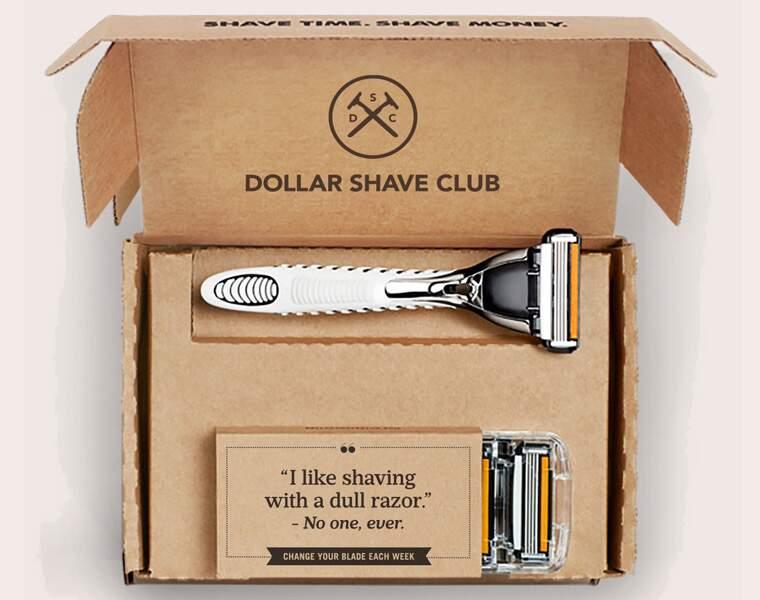 DOLLAR SHAVE: Vente de rasoirs en ligne