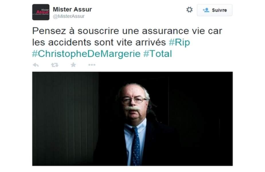 MisterAssur : la boutette sur Twitter après la mort du P-DG de Total