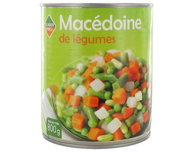 Leader Price - Macédoine de légumes Haricots, flageolets, carottes…