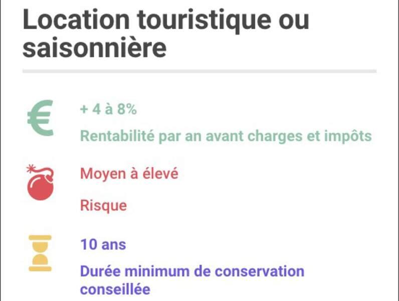 Location touristique ou saisonnière via Airbnb